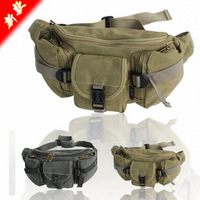 Canvas waist pack multifunctional outdoor large capacity casual