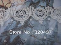 15cm 100% cotton  embroidery lace applique,lace trims