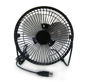 Usb electric fan 6 metal aluminum super fan computer usb fan mini fan mute(China (Mainland))
