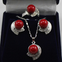 Women's new Jewellery Bridal > Lady's Sallei nanyang pearl 10mm sallei red pearl set gift 70