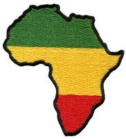 Free Shipping~80 pcs/lot  Wholesale Embroidered Africa flag of Judah flag rasta rastafarian reggae applique iron-on patch