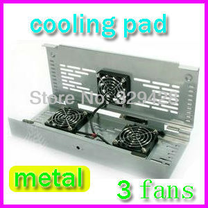 Metal Folding Free Shipping USB computer Laptop Notebook Cooler Cooling Pads base 3 fans plug-and-play Retail/Wholesale(China (Mainland))