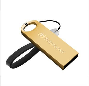 USB Flash Drives Transcend 520S/520G U disk 8G/16G/32G zinc alloy body USB dustproof and waterproof genuine Free shipping(China (Mainland))
