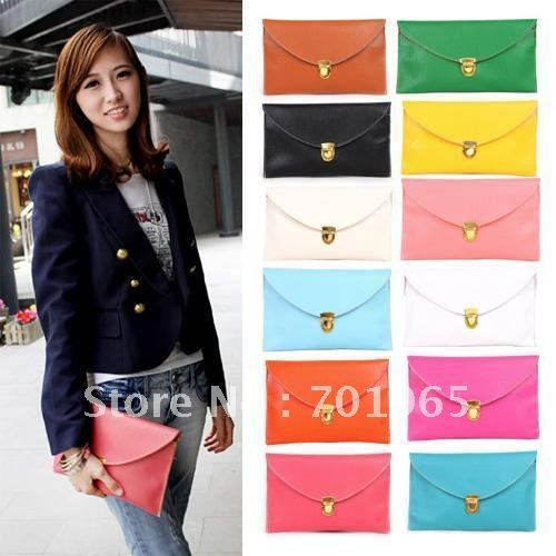 Womens Envelope Clutch Chain Purse Lady Handbag Tote Shoulder Hand Bag free shipping wholesale S085(China (Mainland))