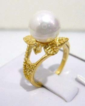 Women's new Jewellery Bridal > Lady's South Seas 10mm white shell pearl ring revision gift 3(China (Mainland))