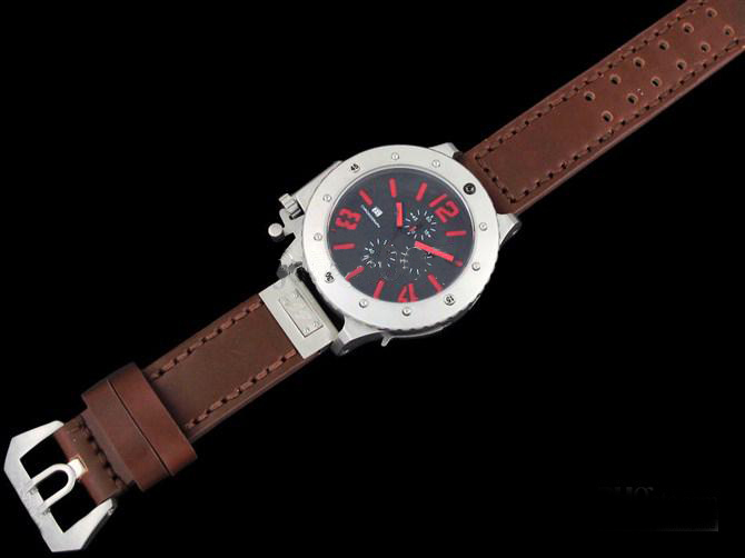 Wholesale - brand new dive Watch quartz chronograph luxury sport watches brown leather band(China (Mainland))