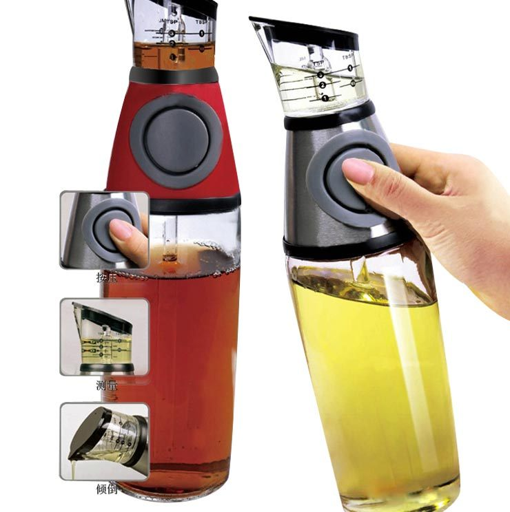 Apllying type oil bottle oiler oil bottle pot of vinegar oil bottle glass oil bottle oil leak 530g(China (Mainland))