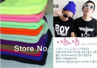 2013 Fashion hat men and women of fluorescent color line cap hat knitted cap GD hip-hop MaoXianMao set of head cap