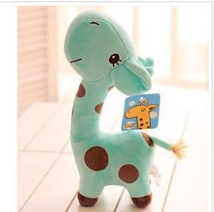 Free  ship  Cute Mint Green giraffe doll, plush toys /stuffed toys ,children gift,/birthday gift