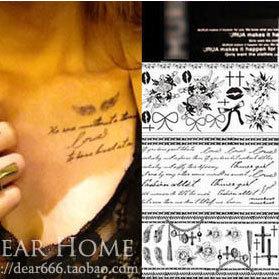 38 tattoo stickers female peach murua tattoo stickers 3 envelope b