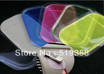 Free Shipping  50pcs/lot Powerful Silica Gel Magic Sticky Pad Anti Slip Non Slip Mat for Car GPS,Silicone Non slip Sticker