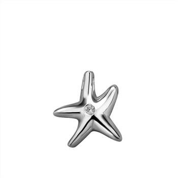 Free shipping,925 silver jewelry Pendants ,Set single stone starfish,fashion jewelry Pendants .wholesale price! D086(China (Mainland))