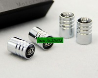 Free Shipping Chrome Metal Wheel Tire Valve Caps Stem Air For kia sorento forte optima rio soul #1