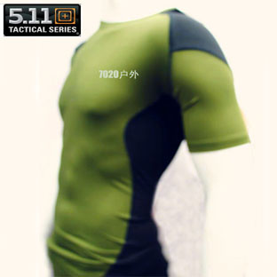 T-shirt male short-sleeve elastic 511 outdoor products clothes 5.11 camouflage military(China (Mainland))