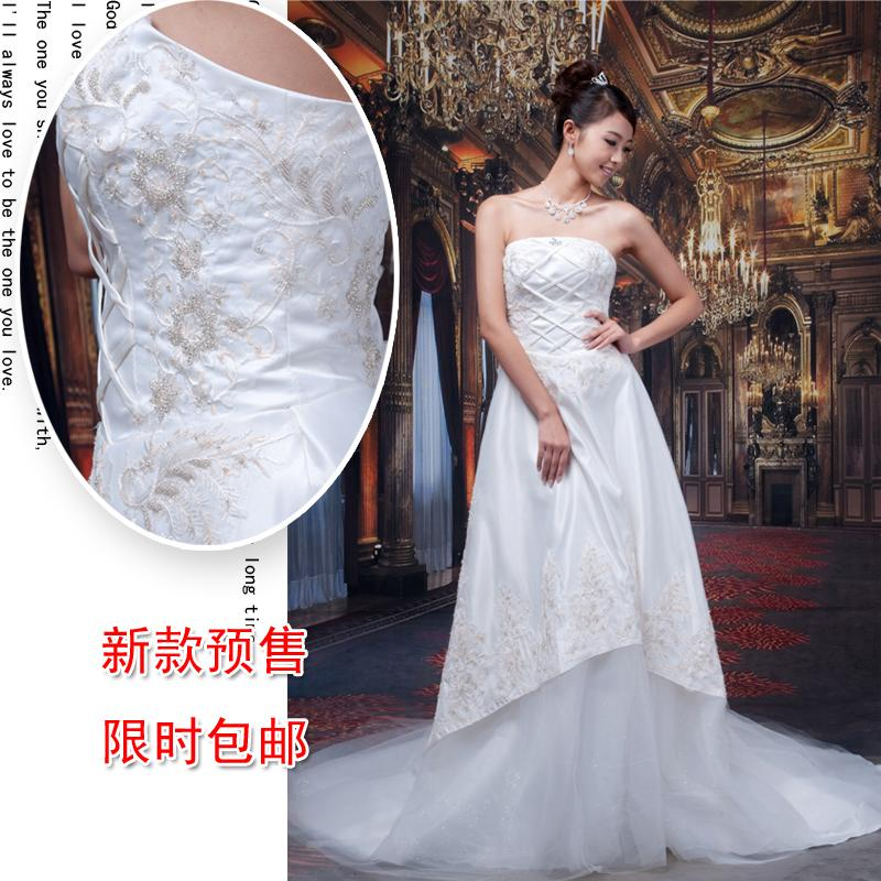 Dream luxury phoeni flower bride train lace wedding dress formal dress 2013 winter new arrival(China (Mainland))