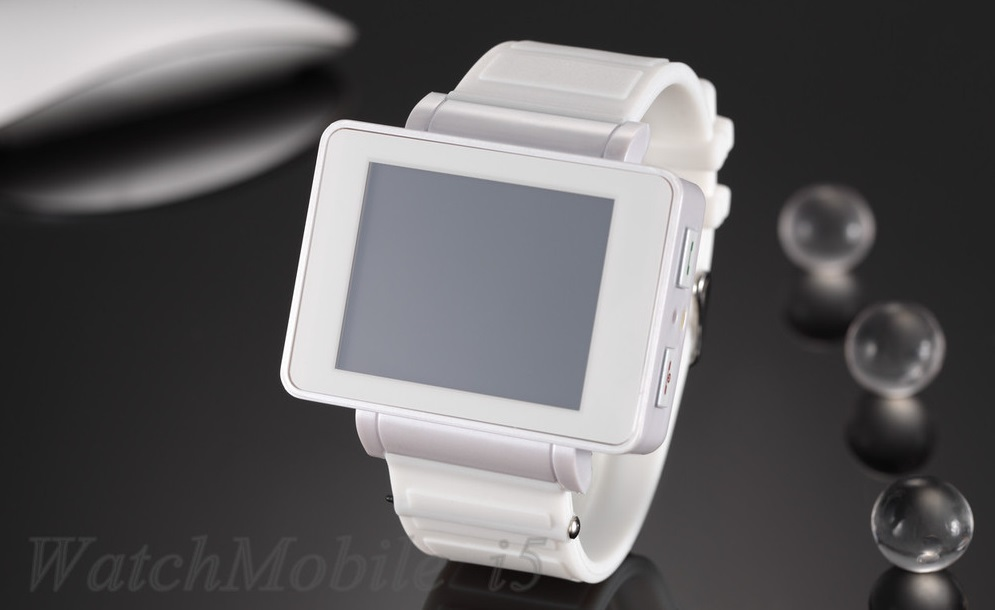 Full White Color i5 Touch Screen Wrist Watch Mobile Cell Phone Bluetooth Fm MP3/MP4 Carmer JAVA(China (Mainland))