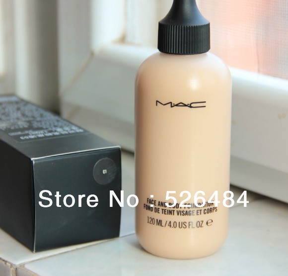 Wholesale High-quality new cosmetics makeup foundation face and body bottle liquid foundation 120ML (1PCS) Free Shipping(China (Mainland))