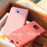 HOT  Soft silicone Ultra Thin Slim Skin Case for Samsung I9100 Galaxy S2 , Free Shipping ,MOQ:1PCS