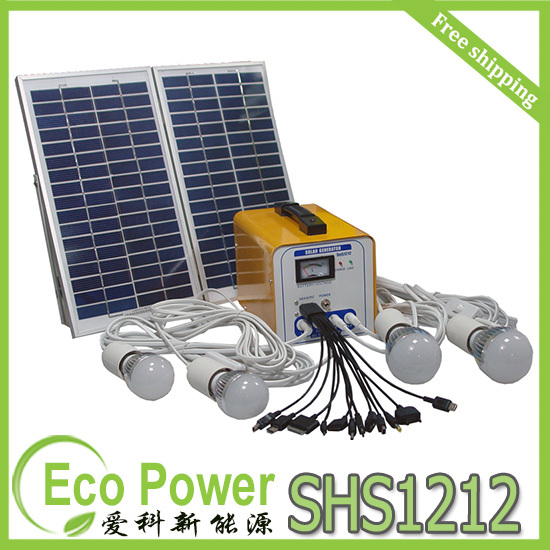 Free Shipping 16W/12AH/12V DC home solar power generator built in controller(China (Mainland))
