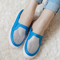 Free shipping 2013 spring and summer the new muffin Sandals Casual shoes trend diamond with thick-soled shoes 106