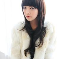 Girls wig long curly hair sweet roll qi bangs fashion non-mainstream wig bulkness
