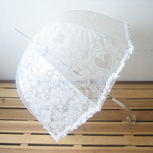 4 umbrella transparent umbrella lace umbrella love the wind princess lace transparent apollo long-handled umbrella