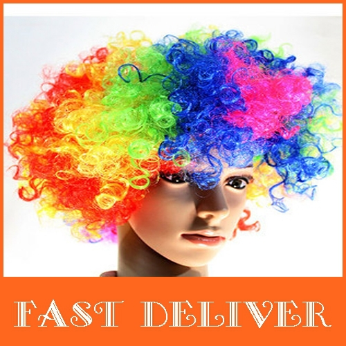 Afro wig curled up the arrival of the new movement multi-color synthetic hair wig lovely fans(China (Mainland))
