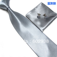New men designer silk ties cufflink handkerchief set 2013 New Style free shipping