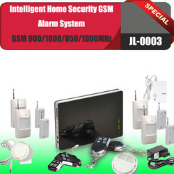 Free shipping quad band GSM 900/1800/850/1900MHz SMS alert Built-in GSM antenna,Home Security GSM Alarm System for global use(China (Mainland))