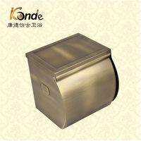 Fashion antique toilet paper box toilet paper holder antique brass toilet paper  waterproof enclosed bumpered (KP)