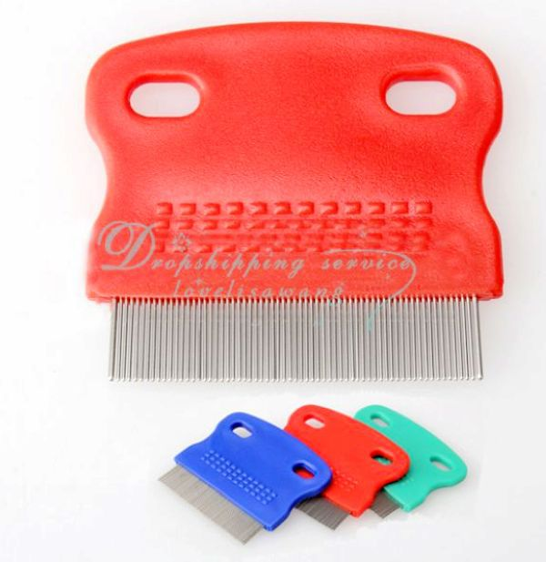 DHL shipping Wholesale New Pet Dog Puppy Cat Flea Cleaning Comb Small Grooming Tool Steel(China (Mainland))
