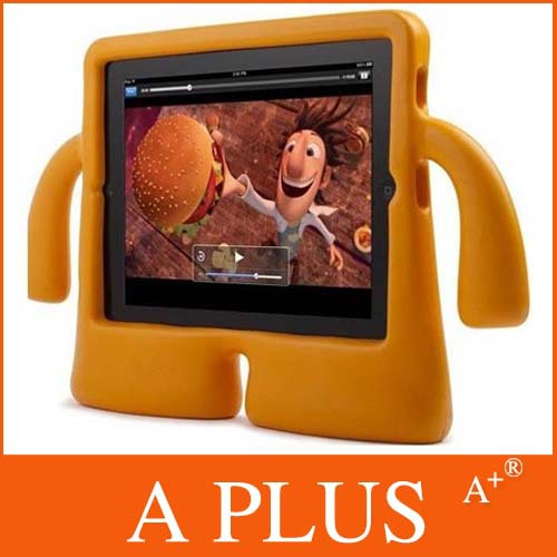 Freeshipping iGuy case for ipad standing cover for ipad 2 new ipad 3 stand case good gift for kids(China (Mainland))