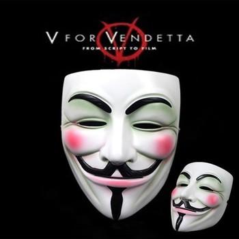 V for Vendetta Mask quality exquisite resin craft mask   Big promotion