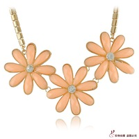 All-match fresh small daisy necklace flower accessories one-piece dress with chain