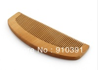Free shipping Anti-static natural wooden comb eco-friendly peach wooden comb as unisex scalp massage hair care product.