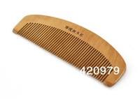 Free shipping,Anti-static natural wooden comb peach wood comb as unisex scalp massage hair care product.