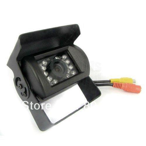 Factory price! 18 IR leds Backup Car Rear View Waterproof Monitor CCD Night Vision Camera LCD Display RCA input