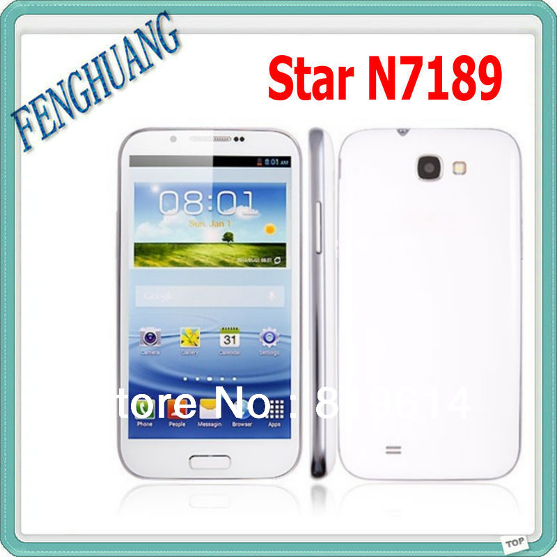N7100 phone Star N7189 MTK6589 quad core high speed 960*540 Android 4.2 1G RAM +8G ROM 5.5 inch 8MP Camera smart mobile phone(China (Mainland))
