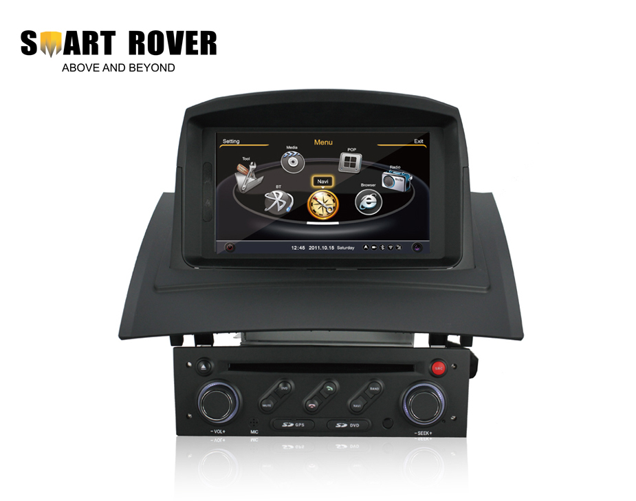 A8 Chipset 3G HD 1080P Car DVD Headunit For Renault Megane 2 Fluence 2002-2008 With GPS Radio BT iPod TV, Steering Wheel Control(China (Mainland))