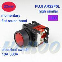 dia.22mm fuji similar AR22F0L flat head momentary push reset illuminated led lighted pushbutton switch 1NO or 1NC shipping free