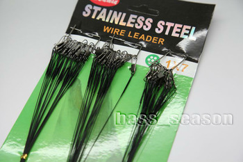 Fishing Line 60 X Stainless Steel Wire Leader 3 Sizes 15cm 23cm 30cm Black Color
