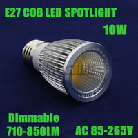 2XFree shipping High power 10w dimmable E27 Cob Light LED Bulb Lamp led recessed lighting CE ROHS