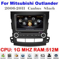 S100 Car DVD For Outlander 2006 - 2011 Mitsubishi Auto Multimedia 1080P Wifi Ipod 1G CPU 3G HD DVR Audio Video Player Free Map