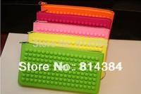 2014 fashion zipper coin purse neon silica gel clutch bags party bag SB0002 Free Shipping