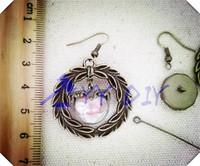 Free Shiping!  20set/lot DIY earing/15mm glass globe with bronze jewelry accessory set glass globe glass vial glass bubble