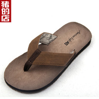 Male flip flops vintage plus size oversized 4546 slippers
