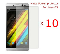 10 pcs/lot  Matte Screen Protector Film For Jiayu G3 cell phone , free shipping