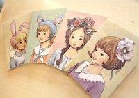 . Creative Mini pretty girl handbook Notebook.stationery notebook.Note pads Memo.Writing Pads-4designs