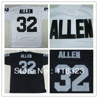 Football Jerseys Marcus Allen #32  Black,White Throwback Sports  Jersey No Mesh Size:48~56+Mix Order,Free Shipping