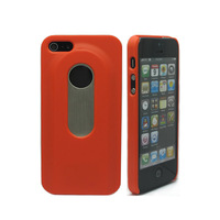 2 in 1 Fashion Protective Plastic + Stainless Steel Bottle Opener Back Case for iPhone 5 - Red